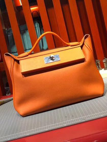 2019 Hermes original togo leather kelly 2424 bag H03699 orange