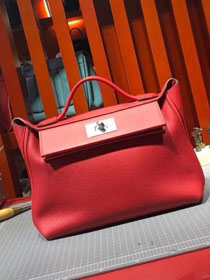2019 Hermes original togo leather kelly 2424 bag H03699 red