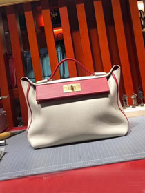 2019 Hermes original togo leather small kelly 2424 bag H03698 beige
