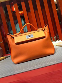 2019 Hermes original togo leather small kelly 2424 bag H03698 orange