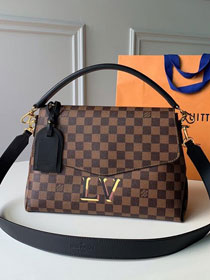 2019 louis vuitton original damier ebene beaubourg mm bag N40177 black
