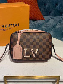 2019 louis vuitton original damier ebene santa monica bag N40179 pink