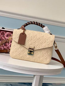 2019 louis vuitton original monogram empreinte metis M43941 white