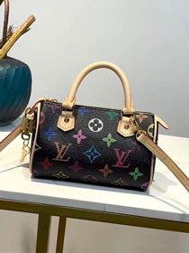 2019 louis vuitton original monogram multicolor nano turenne M92645 black