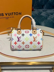 2019 louis vuitton original monogram multicolor nano turenne M92645 white