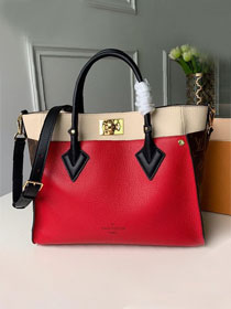 2019 louis vuitton original calfskin on my side tote bag M53824 red