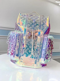 2019 louis vuitton transparent embossed monogram PVC christopher backpack m53286