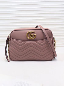GG original calfskin marmont shoulder bag 443499 nude