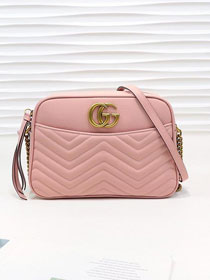 GG original calfskin marmont shoulder bag 443499 pink