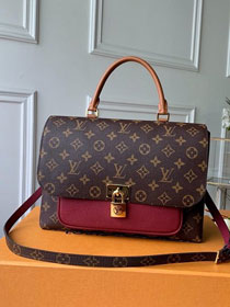 Louis vuitton original monogram marignan messenger bag M43959 burgundy