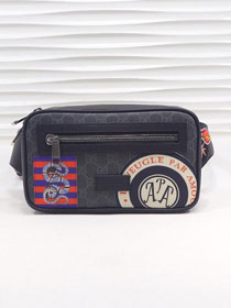 GG original canvas soft supreme Night Courrier belt bag 474293 black
