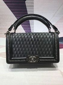 CC original stingray skin boy handbag A94804 black