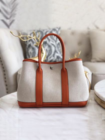Hermes original canvas small garden party 30 bag G30 white&orange