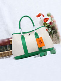 Hermes original canvas small garden party 30 bag G30 white&green