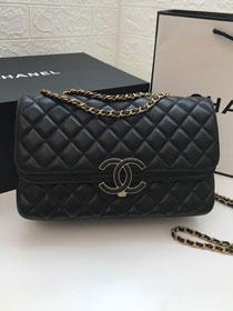 2019 CC original lambskin medium flap bag A57276 black