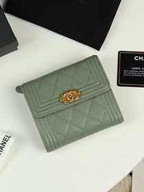 CC grained calfskin boy small flap wallet A81996 olive