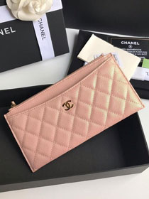 CC grained calfskin classic pouch A81462 pink