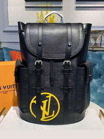 2019 louis vuitton original epi leather christopher backpack PM M55138 black