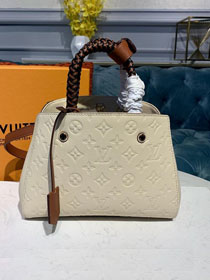 2019 louis vuitton original monogram empreinte calfskin montaigne BB M53938 beige