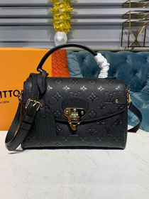 2019 louis vuitton original monogram empreinte calfskin georges BB M53941 black