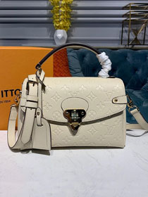 2019 louis vuitton original monogram empreinte calfskin georges BB M53943 beige