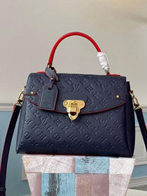 2019 louis vuitton original monogram empreinte calfskin georges mm M53942 navy blue