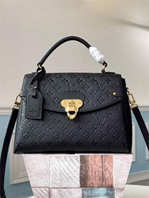 2019 louis vuitton original monogram empreinte calfskin georges mm M53944 black