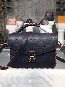 2019 louis vuitton original monogram empreinte metis M43941 navy blue