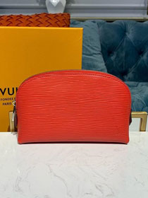 Louis vuitton original epi leather cosmetic pouch m60024 red