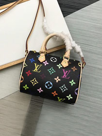 Louis vuitton origianl monogram multicolor nano speedy M61252 black