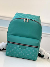 Louis vuitton original taiga leather discovery backpack M30227 green