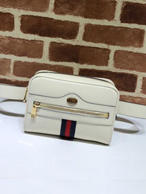 GG original calfskin ophidia supreme small belt bag 517076 white