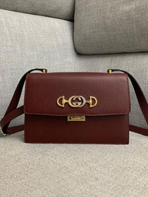 2019 GG original grainy calfskin zumi small shoulder bag 576388 bordeaux