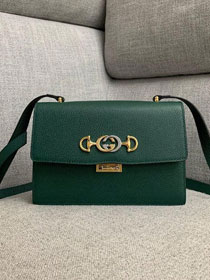 2019 GG original grainy calfskin zumi small shoulder bag 576388 green