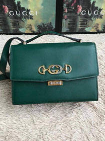 2019 GG original smooth calfskin zumi small shoulder bag 576388 green