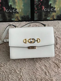 2019 GG original smooth calfskin zumi small shoulder bag 576388 white