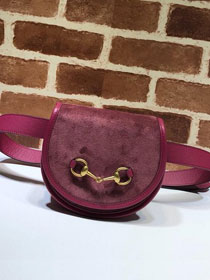 2019 GG original suede leather belt bag 384820 rose red