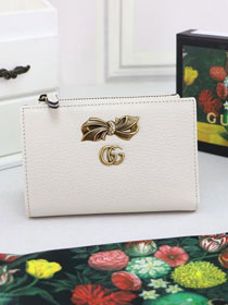 GG calfskin card holder 524300 white