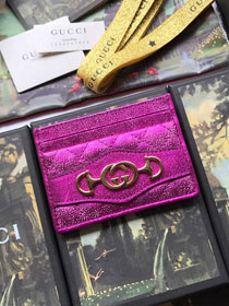 GG calfskin card holder 536354 pink