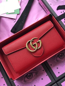 GG calfskin wallet 400586 red