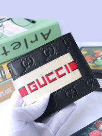 GG calfskin wallet 408827 black