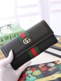 GG calfskin wallet 523153 black