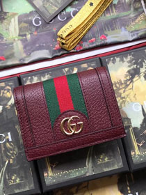 GG calfskin wallet 523155 bordeaux