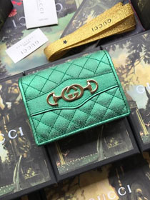 GG calfskin wallet 536353 green