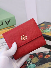 GG calfskin wallet 546584 red