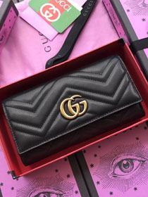 GG calfskin wallet 557742 black