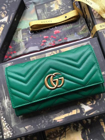 GG calfskin wallet 557742 green