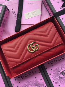 GG calfskin wallet 557742 red