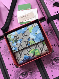 GG canvas wallet 410071 blue