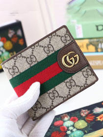 GG canvas wallet 557702 coffee